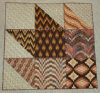 maple leaf rag bargello sampler