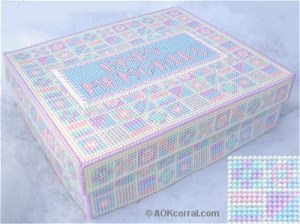 plastic canvas keepsake box