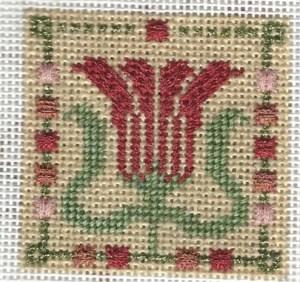 Mindy Mini Stitch Guide – Art Nouveau Tile