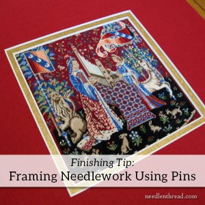 Framing your own Needlepoint