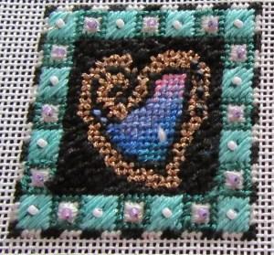 Mindy heart needlepoint canvas