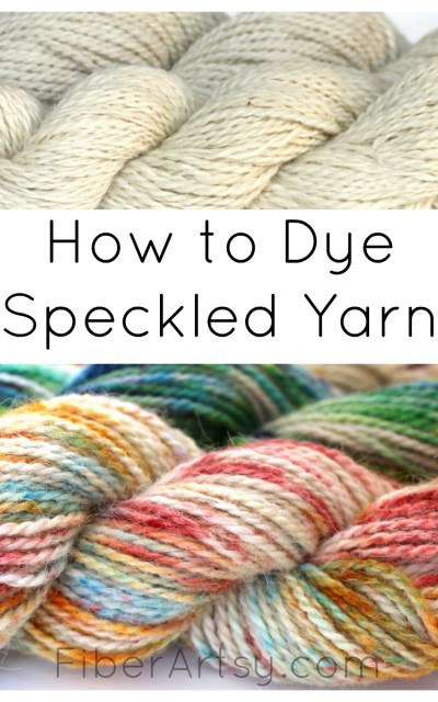 hand-dued speckled yarn