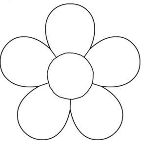 five-petalled flower outline