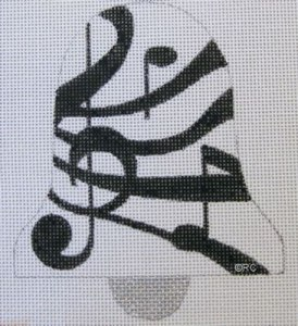 musical notes bell needlepoint canvas