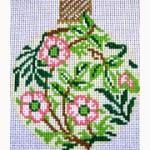 William Morris inspired needlepoint ornament