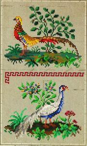 vintage Berlinwork birds chart