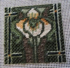 Mindy greenie needlepoint mini