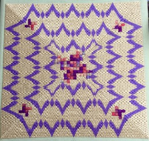 four-way bargello with octomino center