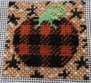 mindy pumpkin mini needlepoint