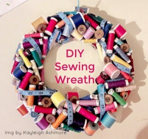 Adapt this DIY Sewing Wreath to Needlepoint