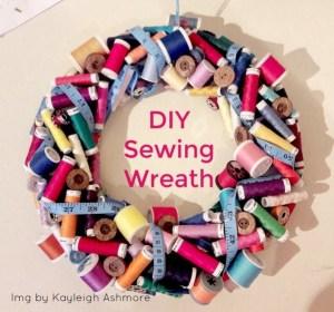 sewing wreath