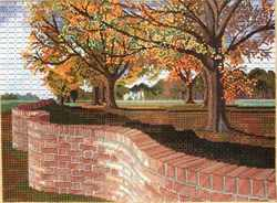 serpentine wall needlepoint by gail stafford
