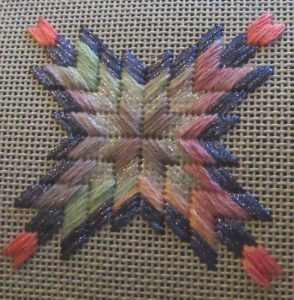 Barn Quilt Star Free Needlepoint Stash Project
