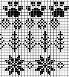 Fair Isle/Nordic charted motifs