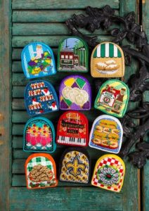 12 days of New Orleans Christmas needlepoint