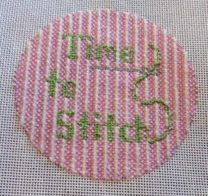 time to stitch clock needlepoint canvas