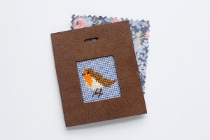 no sew needlepoint tag