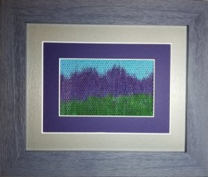 mountain landscape needlepoint