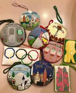 Rudy Saunders needlepoint ornaments