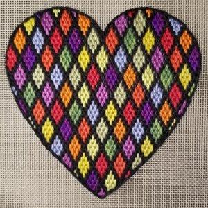 bargello needlepoint heart