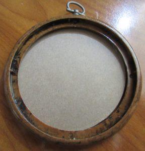 vintage wood ring to finish needlepoint ornaments