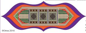 free Orna Willis geometric needlepoint