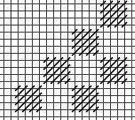 open giant scotch check needlepoint stitch