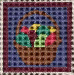 easter egg basket needlepoint from Little Bird Designs