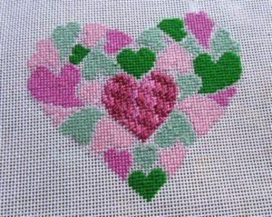 preppy heart of hearts needlepoint