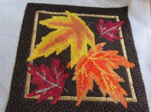 fall leaves needlepoint by tink boord-dill