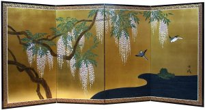 a512_bigJapenese screen with wisteria