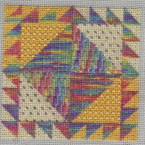 Needlepoint Tent Stitch sampler