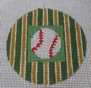 Oakland A's baseball ornament