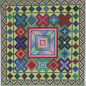 folk art geometric needlepoint from Maggie co
