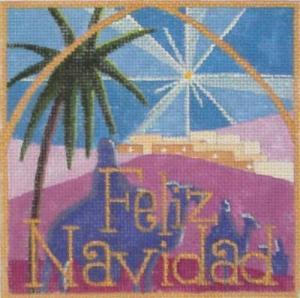feliz navidad needlepoint by Raymond Crawford