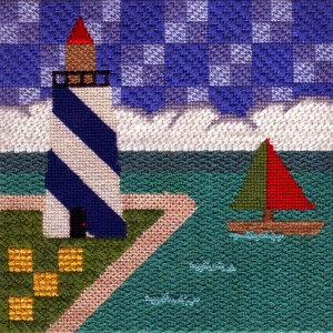 Sandy Grossman-Morris lighthouse needlepoint canvas