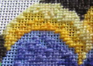 pixel shading in needlepoint, skipping the middle shade