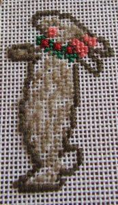 needlepoint creche bunny