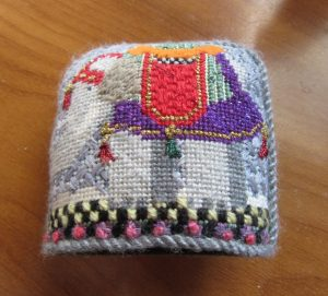 needledeeva needlepoint nativity elephant