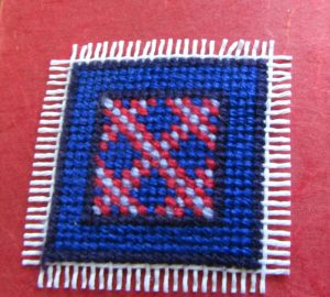 Amish tribe Irish chain needlepoint tiny quit