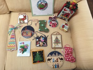 needlepoint Christmas ornaments