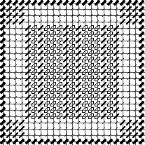 Amish split bars needlepoint chart