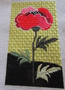 poppy beginner's needlepoint  canvas from Needledeeva