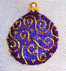 Burnett & Bradley ornament featuring couching