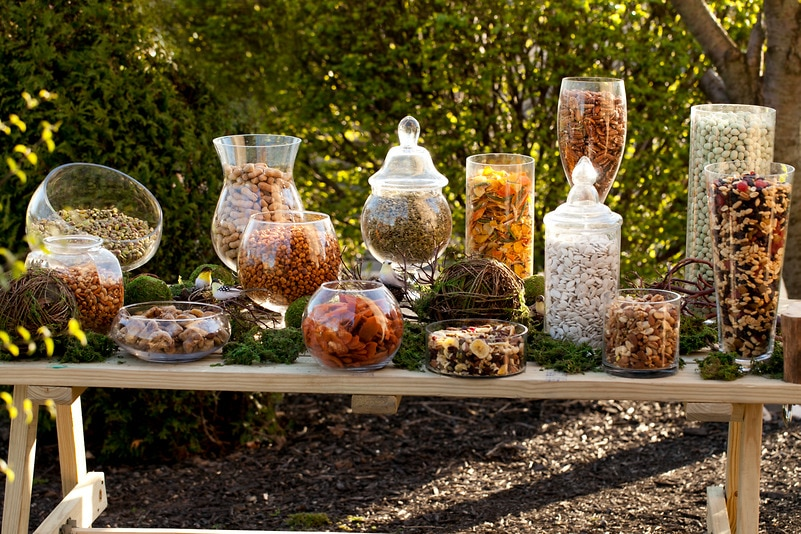 Peanuts Wallpaper Fall Rustic Snack Buffet Candy Buffets Wedding Candy Nuts Com