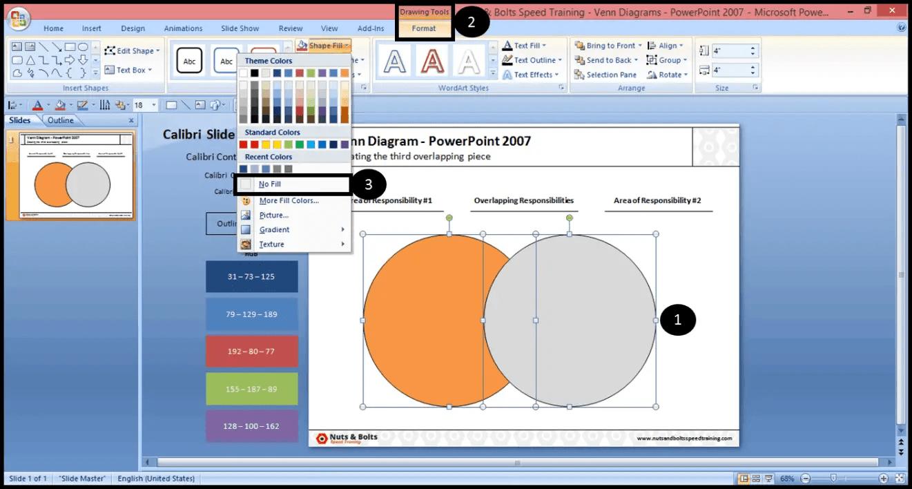 creating venn diagram in powerpoint