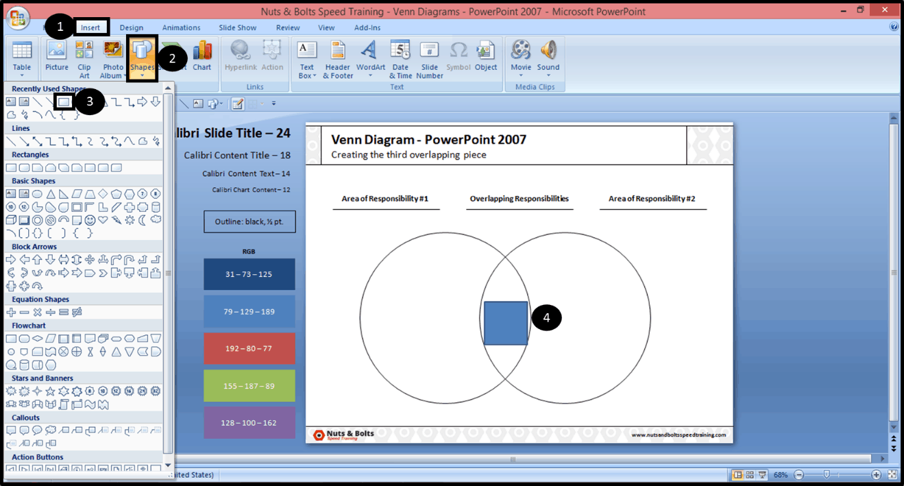 how to make a venn diagram on microsoft word