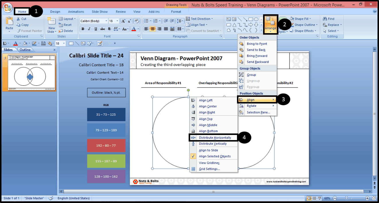 Creating The Middle Piece Of A Venn Diagram In Powerpoint 2007 Nuts & Bolts  Speed Training How To Convert Ppttovideo2010_3