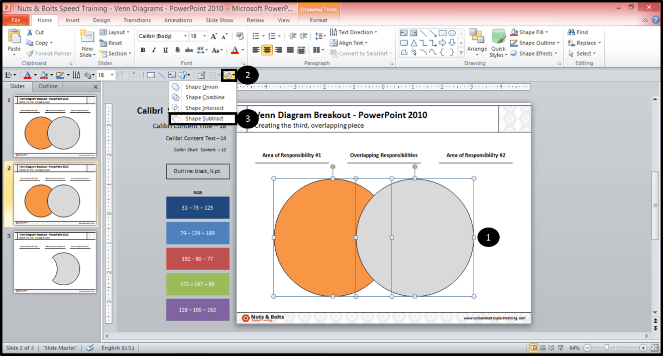 How To Insert A Youtube Video Into Powerpoint Creating The Middle Piece Of  A Venn Diagram In Powerpoint 2010 Nuts & Bolts Speed Training