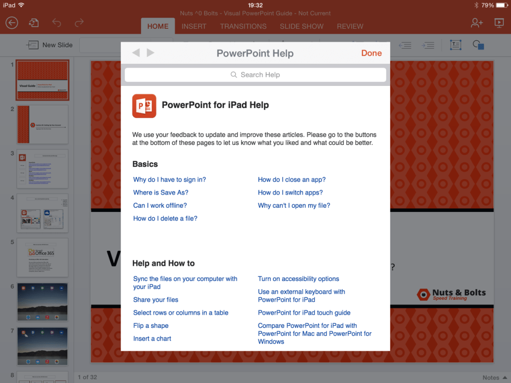 powerpoint for ipad a visual guide the